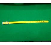 Coleira amarelo fluorescente