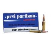 Munições de Caça Grossa PRVI Partizan 308 Win(180Gr)