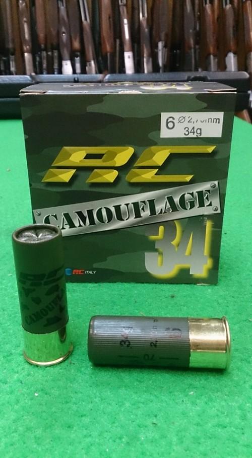 Cartuchos RC Camouflage 34 gr chumbo 5 , 6 e 7